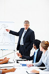 Presentation: Business man at the boardroom meeting