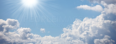 A photo of the Blue sky with white clouds