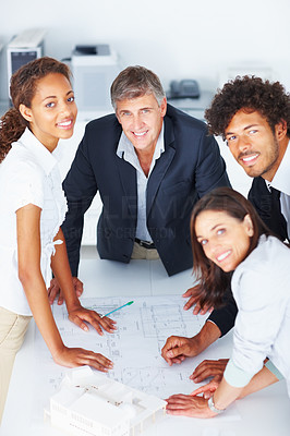 Group of business people working together on a project
