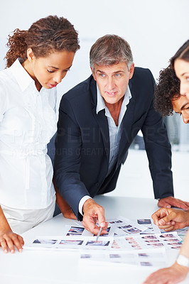 Group of successful business people working together on a project