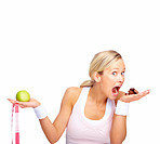 Health Concept - The power of temptation