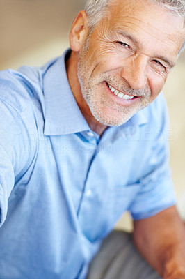 Buy stock photo Shot of a business man smiling at the camera