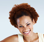 Charming African American woman smiling