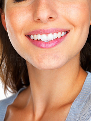 Buy stock photo Close up of a woman`s smile
