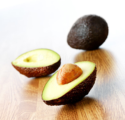 Buy stock photo Fresh fruits - Avocado white background. This picture is part of the series