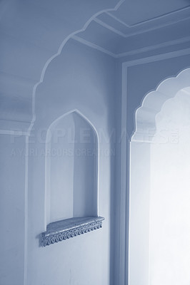 Buy stock photo Light through doorway. Beautiful colors.   This picture is of a part of an old castle.