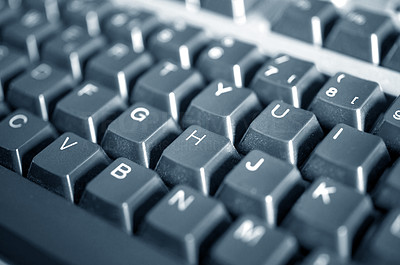 Buy stock photo Macro photo of a keyboard
