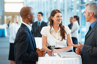 Buy stock photo Business people discussing in a conference hall