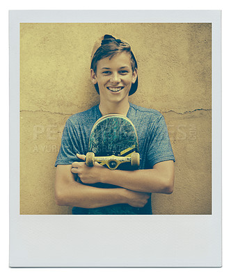 Buy stock photo Cropped shot of a young teenage boy