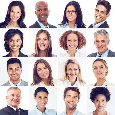 Buy stock photo Composite shot of a diverse group of businesspeople