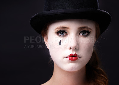 Buy stock photo Studio shot of a female mime
