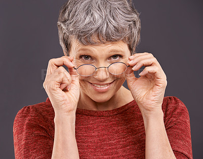 Buy stock photo Studio shot of an mature woman