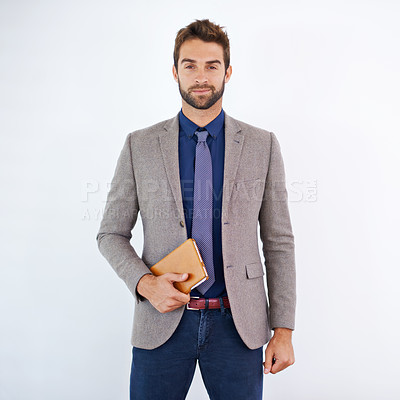 Buy stock photo Shot of a stylish businessman