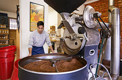 Buy stock photo Cropped shot of coffee production