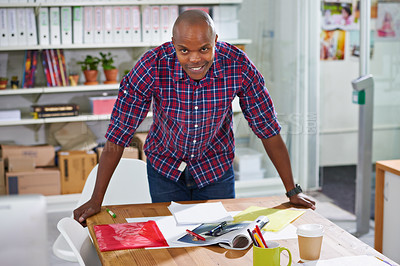 Buy stock photo Shot of a young designer in the office