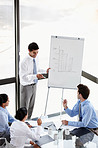 Sharing ideas in the boardroom