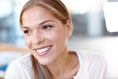 Buy stock photo Closeup shot of an attractive young business professional in the office