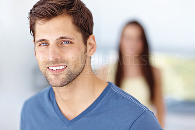 Buy stock photo A portrait of handsome man