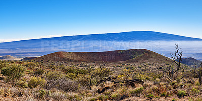 Buy stock photo The world's largest volcano Mauna Loa in Hawaii, Big Island, Hawaii, USA