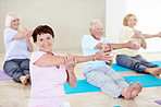 Yoga class is active and social