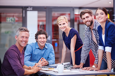 Buy stock photo Cropped portrait of creative professionals in the office