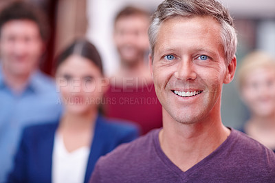 Buy stock photo Cropped portrait of a mature creative professional in the office