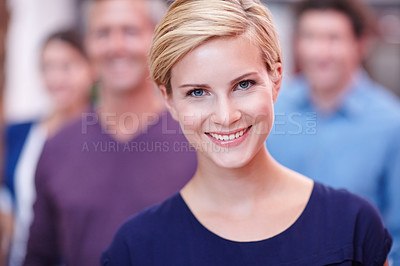 Buy stock photo Cropped portrait of a young creative professional in the office