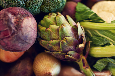 Buy stock photo Shot of a variety of vegetables