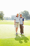 Two men on the golf course