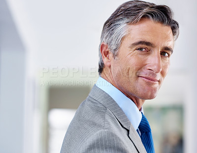 Buy stock photo Portrait of a confident-looking mature businessman