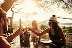 Friends and wine…the older, the better