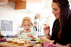Having fun in the kitchen with mommy