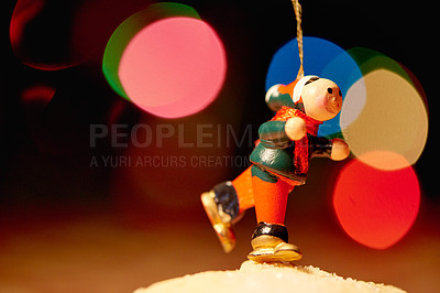 Buy stock photo Closeup shot of a christmas figurine