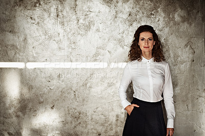 Buy stock photo Studio portrait of a businesswoman