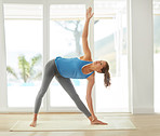 Yoga keeps her body flexible and strong