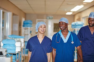 Buy stock photo Cropped shot of medical staff in a hospital
