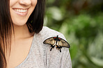 Happiness is a butterfly sitting softly on your shoulder