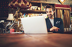 Blogging in the bar