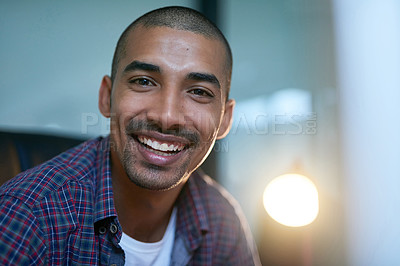 Buy stock photo Cropped portrait of a young designer in the office