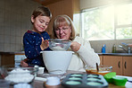 Baking fun with gran