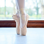 Ballerinas wear invisible high heels