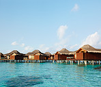 Exotic holiday resort in middle of the ocean