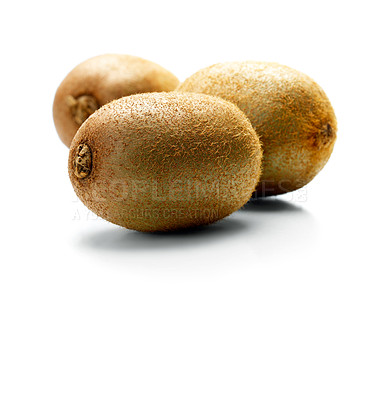 Buy stock photo Kiwi fruit on white background. This picture is part of the series