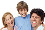 Sweet young family enjoying themselves