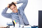This job is killing me ! - Bussinessman pulling his hair in frustration