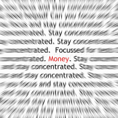 Buy stock photo Financial and money concept with blurred text in a paper