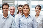 Portrait of a diverse business group - Happy and successful