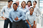 Business success - Group of overjoyed people