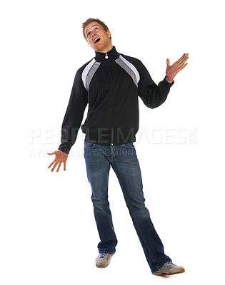 Buy stock photo Studio pictures of young college student