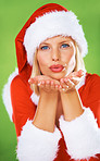 Christmas wishes and kisses
